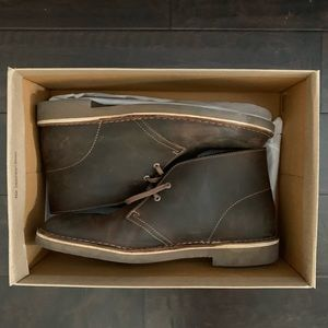 Clarks Brown Leather Desert Boots